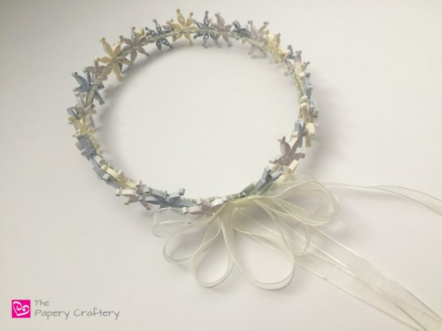 Winter Princess Crown ~ A delicate quilling snowflake crown for your favorite winter princess || www.thepaperycraftery.com