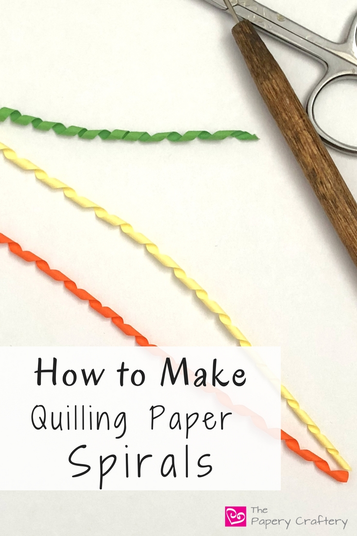 How to make quilling paper spirals the papery craftery for How to use quilling strips