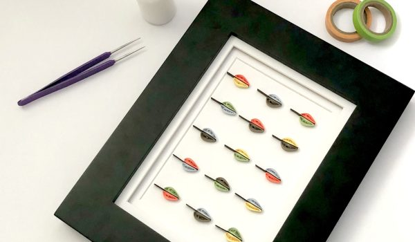 Tips for Gluing Quilling to a Background ~ Make a quick quilled leaf craft and learn some helpful hints about mounting for framing    www.ThePaperyCraftery.com