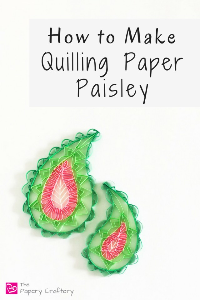 How to Make Quilling Paper Paisley ~ Swirly teardrops that match perfectly with quilling paper details || www.ThePaperyCraftery.com