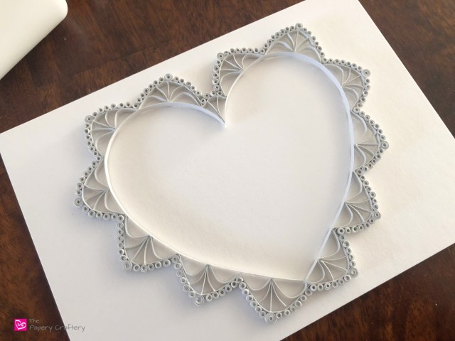 Quilling Paper Lace Heart - Delicate lace heart made from paper, perfect for your Valentine's crafts | ThePaperyCraftery.com