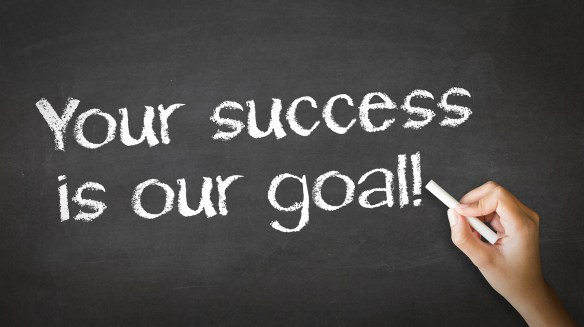 Your Success Is Our Goal Chalk Illustration