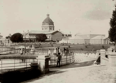 Machattie Park at about the year 1900.