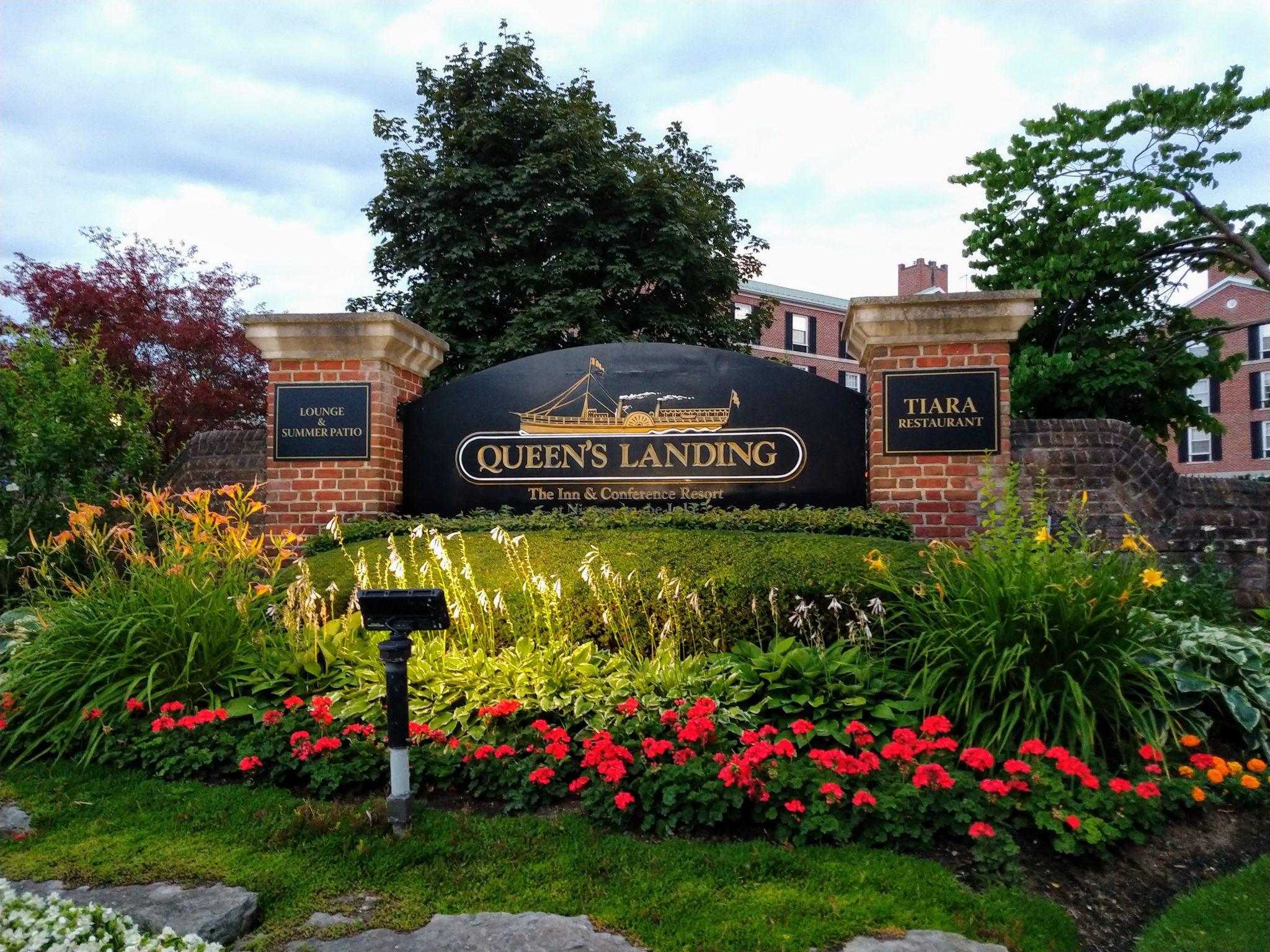 Queen's Landing Hotel Sign Niagara-on-the-Lake Ontario