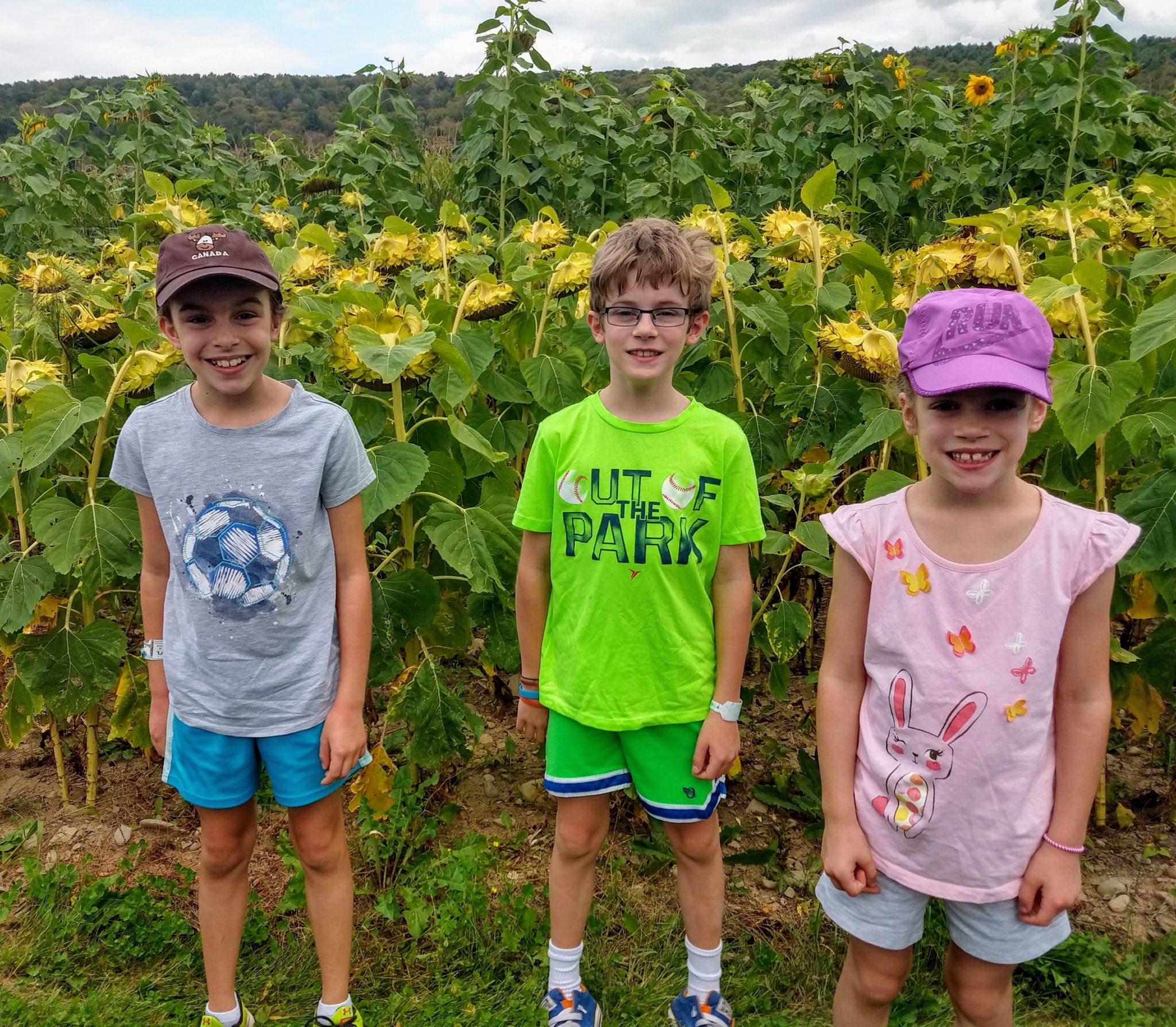 Kids & Sunflowers
