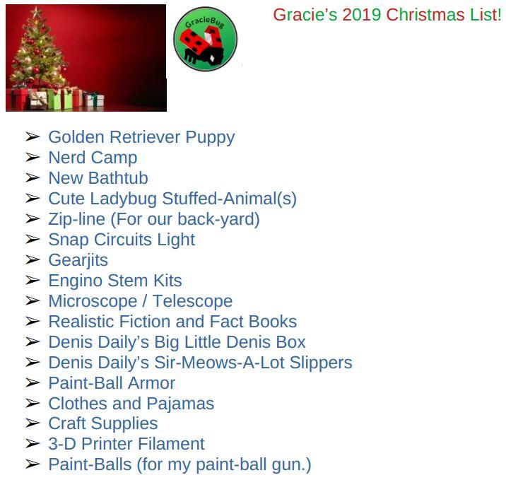 Christmas List Gracie