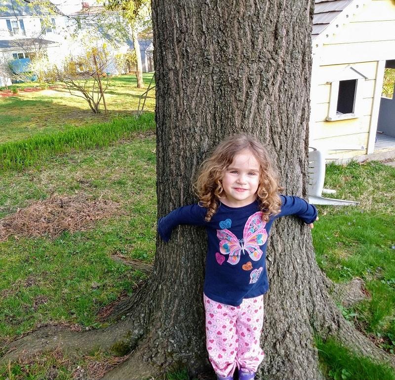 tree hugger Sophie