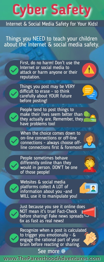 Pinterest Pin Cyber Safety for Kids & Teens