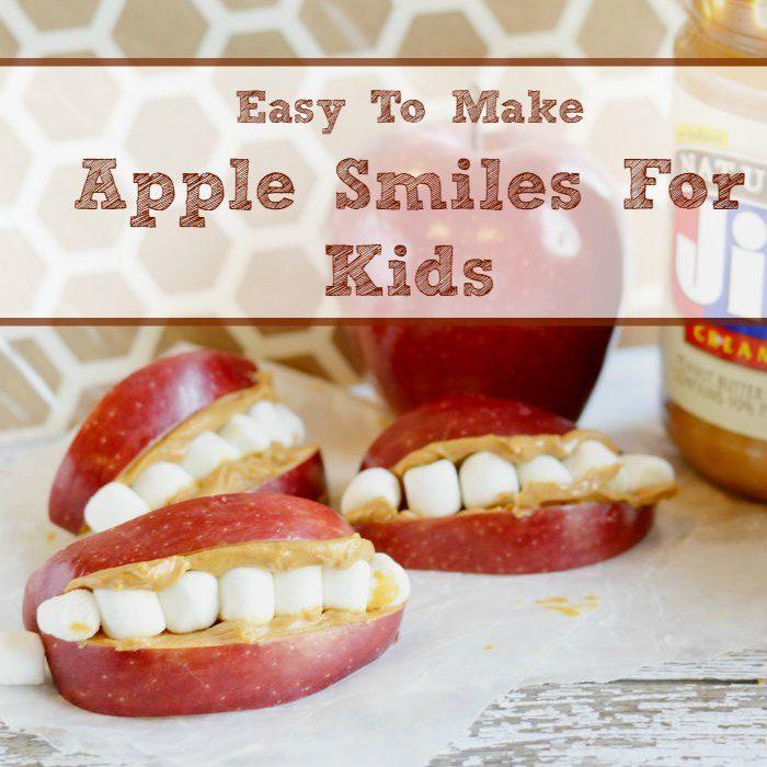 Easy To Make Apple Smiles For Kids