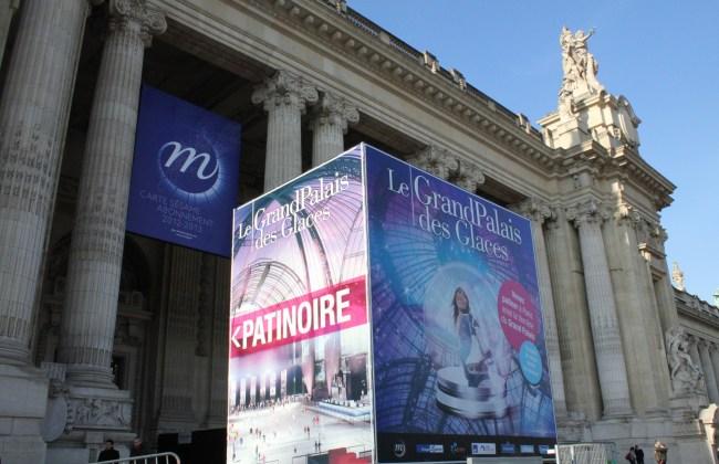 patinoire éphémère grand palais paris