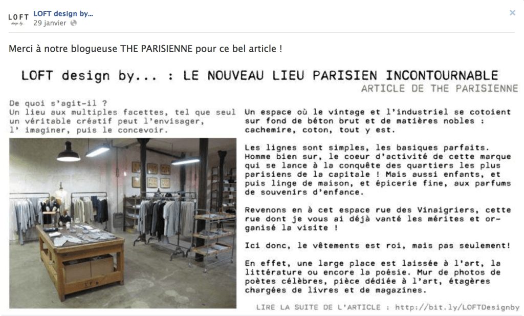 article The PArisienne sur Loft by Design