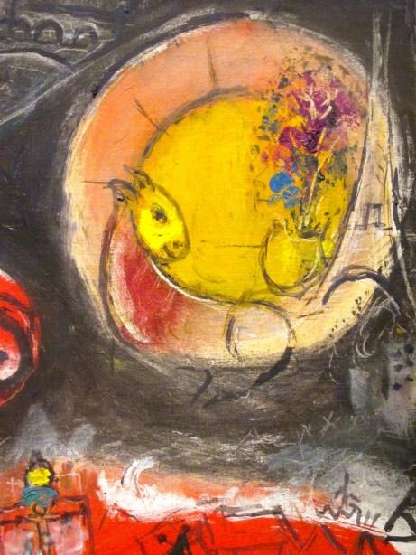 esquisse pour les toits rouges - Chagall