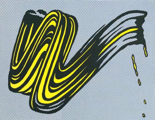 Brushstroke 1965 by Roy Lichtenstein 1923-1997