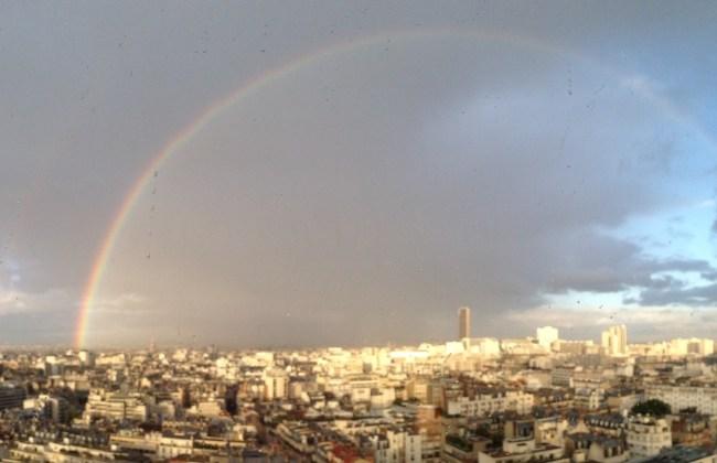 Arc en ciel sur Paris