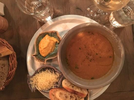 soupe de poisson - Huguette bistro de la mer