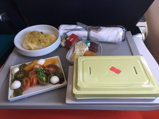 repas Air France classe affaire
