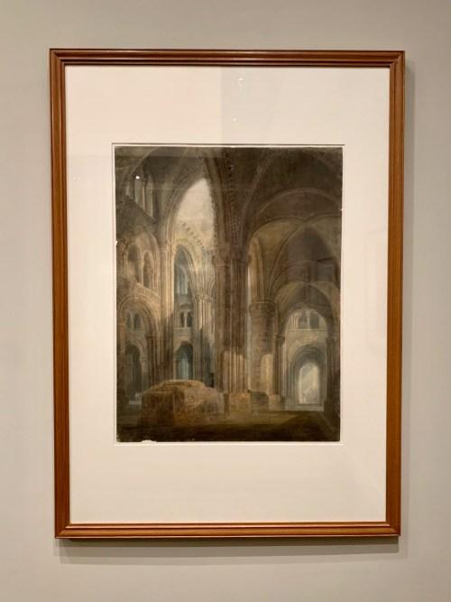 Cathédrale de Durham - graphite, aquarelle et gouache sur papier 1798
