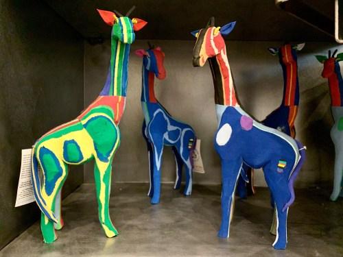 Girafes Ocean Sole flip flop art chez Rue Rangoli