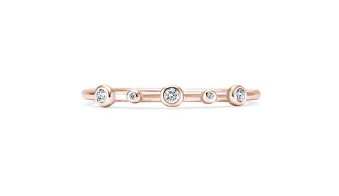 Equinoxe or rose et diamants