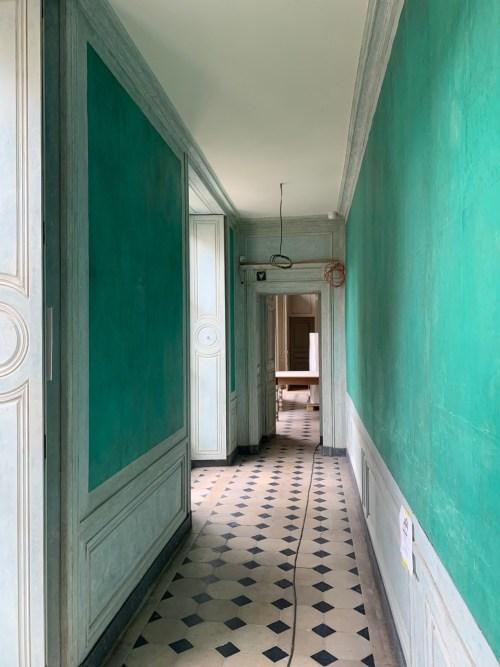 Hotel de la Marine - le couloir vers le bureau de l'intendant