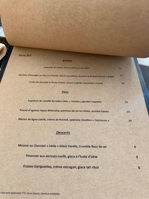 Restaurant Sellae - la carte