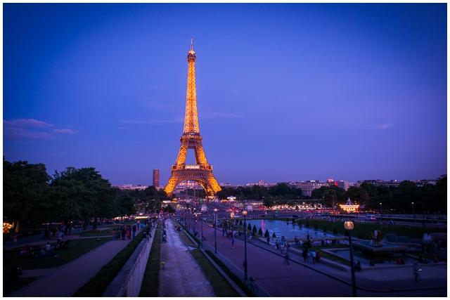 Romantic Paris ideas Sunset Eiffel Tower