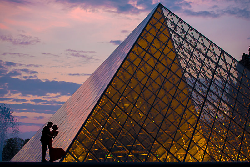 Sunset silhouettes for engagement photo inspiration