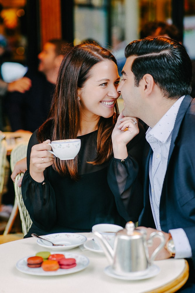 best couple images in parisian cafe