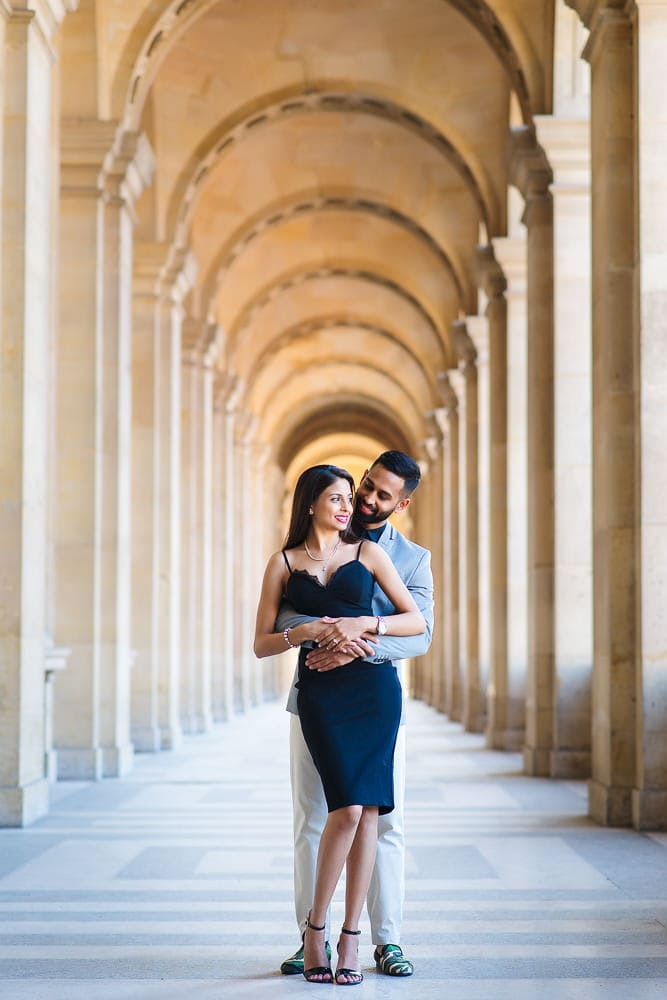 paris engagement indian couple just got engaged and posing for pictures at the louvre museum
