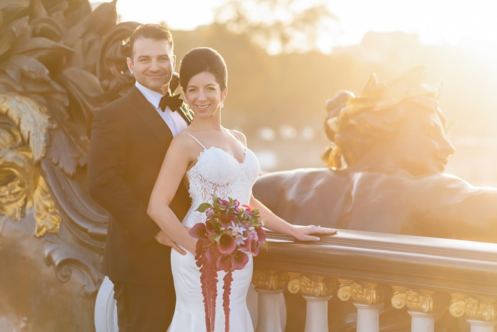 Hotel Crillon Paris wedding - Alexander 3 bridge portraits -4