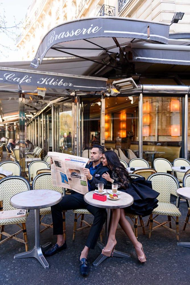 Photoshoot outfits for a parisian café