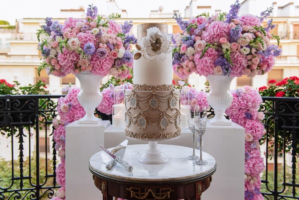 Plaza Athenee Paris Wedding - fabulous wedding cake
