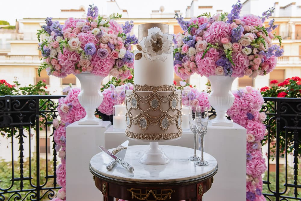Plaza Athenee Paris Wedding - fabulous wedding cake