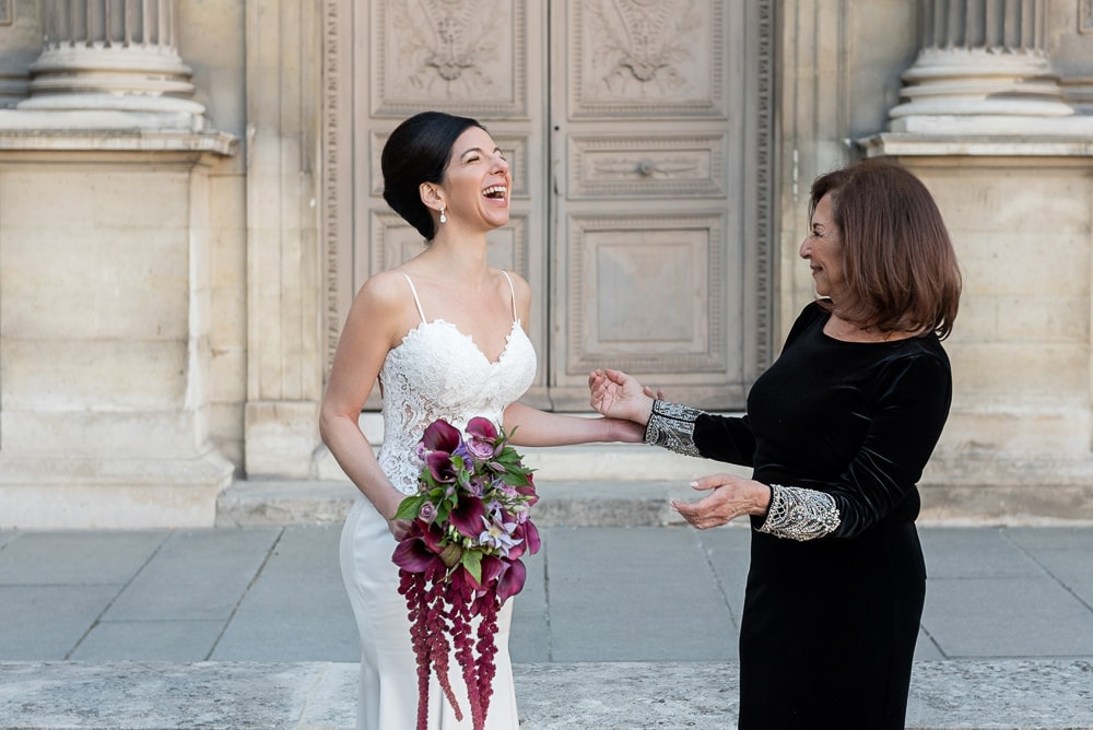 Hotel Crillon Paris wedding – Louvre Museum portraits -7