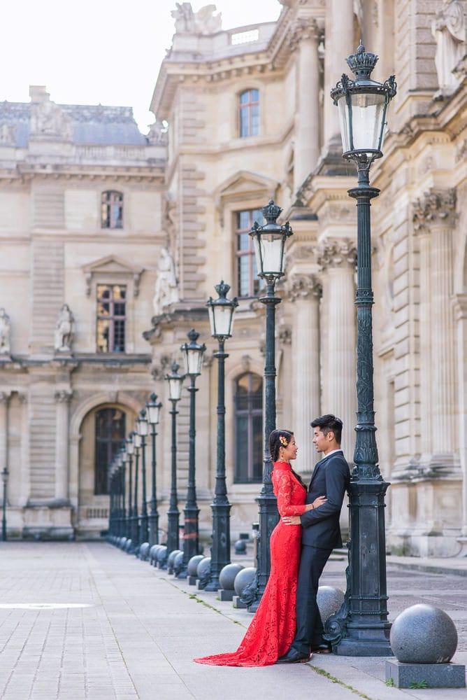 louvre museum of pre wedding photography paris