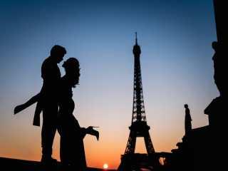 Photo shooting couple Paris