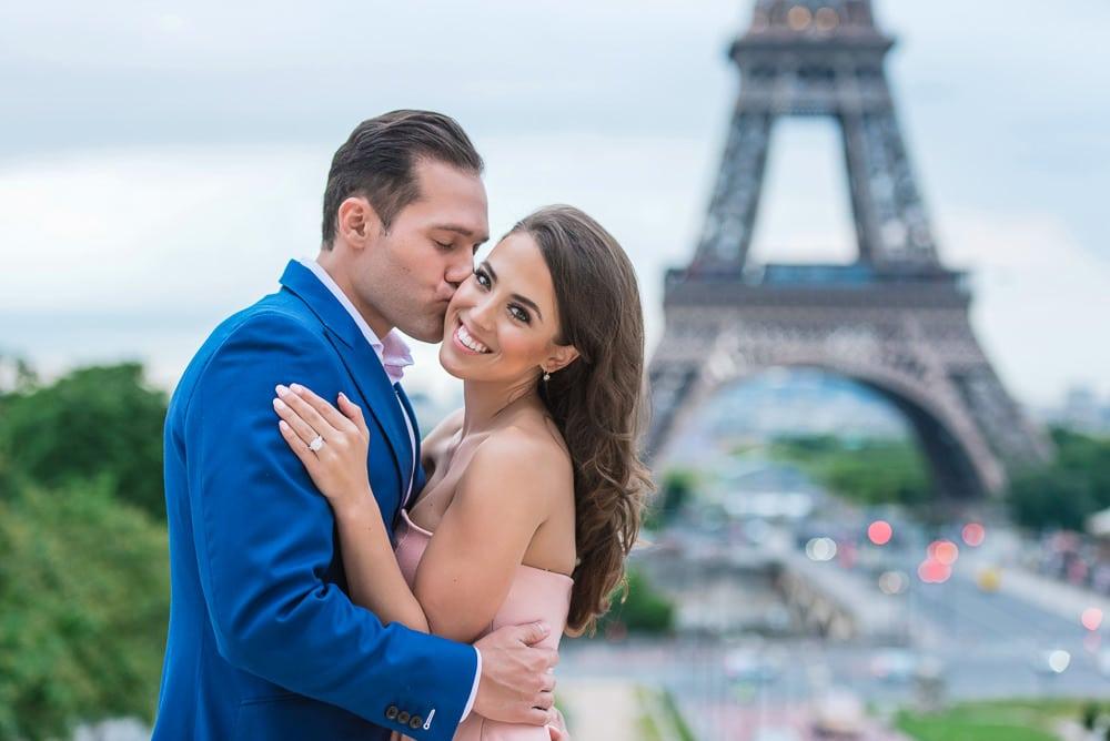 a kiss on the cheek in paris