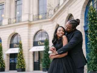 Photoshoot themes for couples – Christmas decoration in Place Vendome elegant Parisian landscape