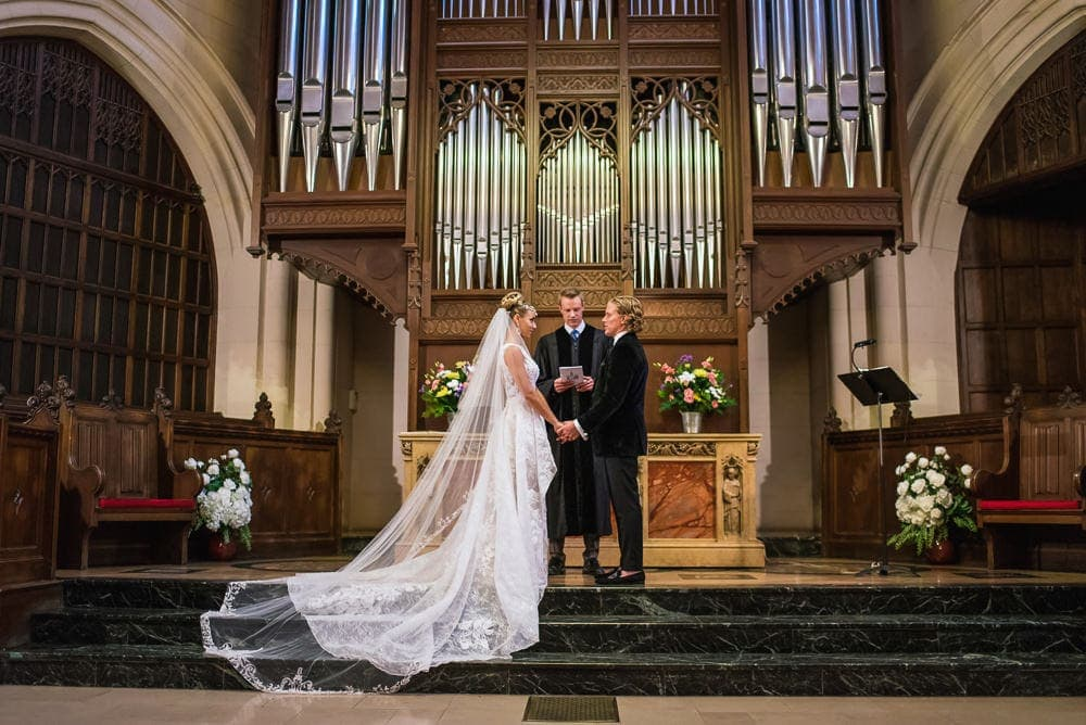 Wedding ceremony at The American Church in Paris
