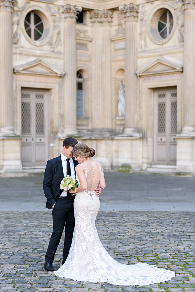 eloping in paris france - alexia and matt from canada