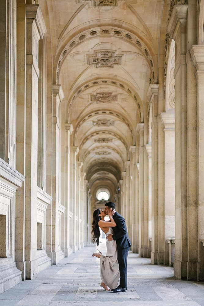 Wedding anniversary pictures in Paris