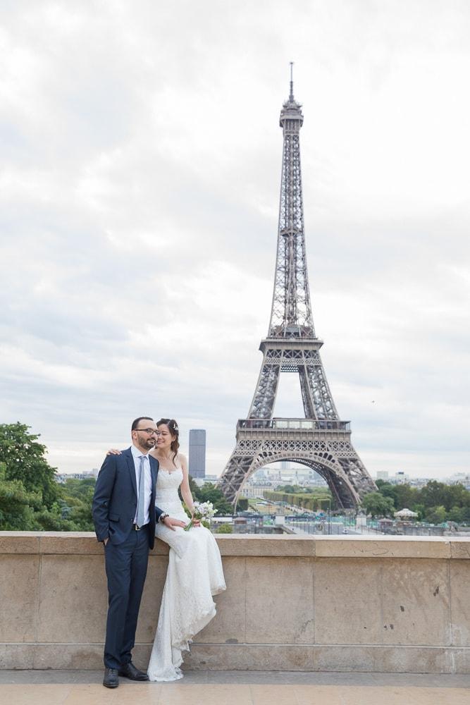 Wedding pictures in Paris