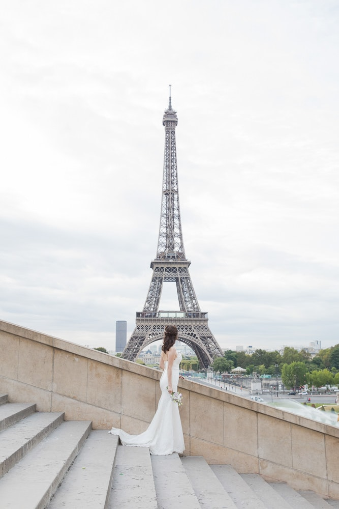 Eiffel Tower bride