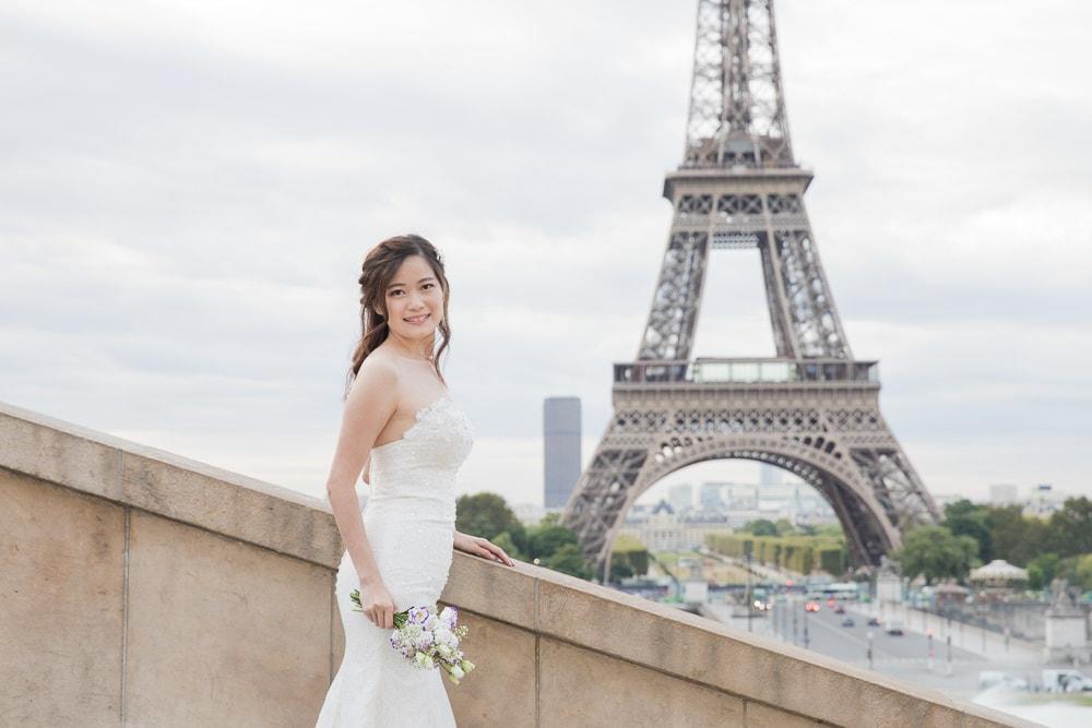 Beauty bridal portrait Paris