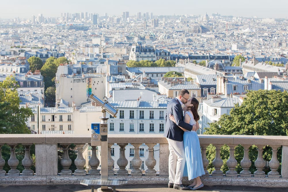 Montmartre view couples photography in Paris