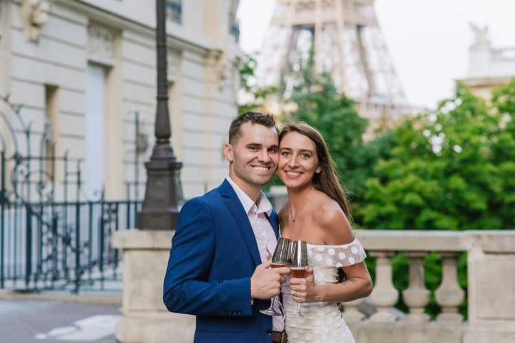 Beautiful couple portrait in Paris