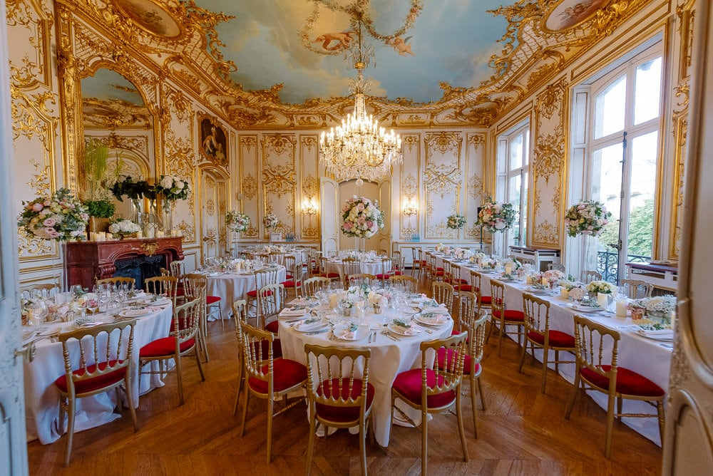 Wedding decor at Hotel Le Marois by Paris elopement wedding planner - CTH Events - Inga