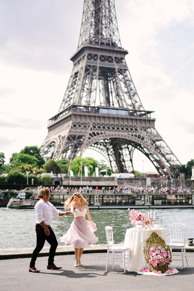 The Seine River - proposal spot in Paris