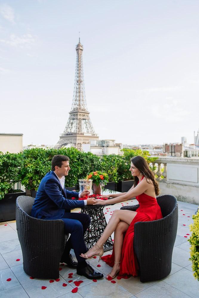 private paris proposal at Shangri La Paris
