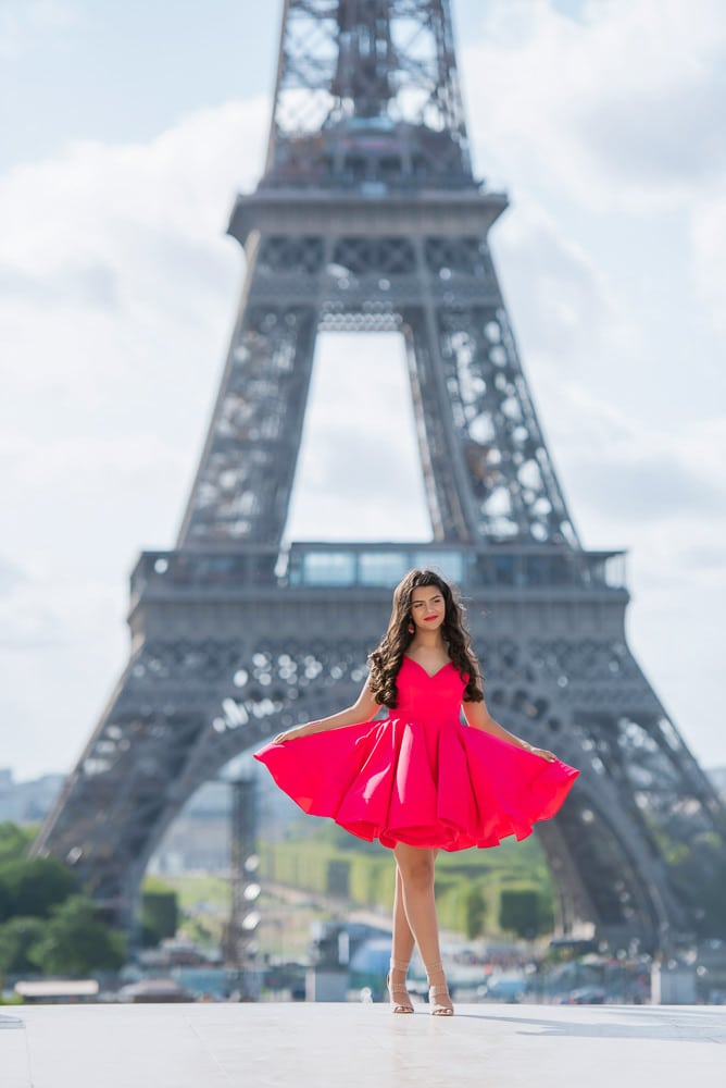quinceanera red dresses in paris, france